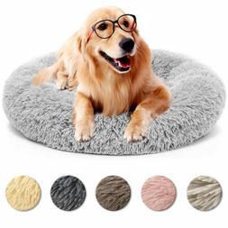 Donut Plush Cat Dog Puppy Calming Sleeping Bed Mat Round Nes