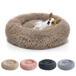 donut plush pet dog cat bed fluffy