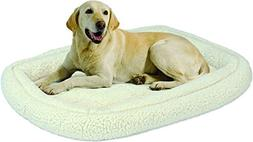 """MidWest Homes for Pets Double Bolster Bed, 36"""", White"""