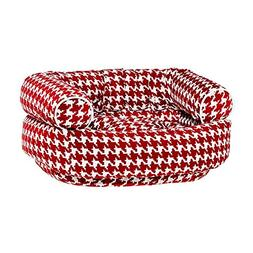 Double Donut Diamond Microfiber Pet Bed
