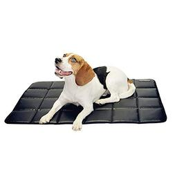 furrybaby Durable Waterproof Dog Crate mat Leather High-Dens