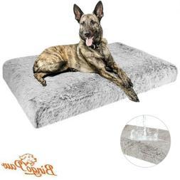 Durable Waterproof Large Dog Bed Plush Fur Heavy Duty Foam K