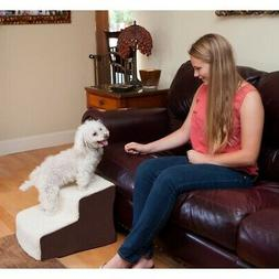 Pet Gear Easy Step Deluxe Soft Step, Cat/Dog Stairs, Sturdy,