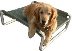 Rover Company Elevated Dog Bed, 36 by 60-Inch, Autumn Fern