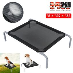 Elevated Dog Bed Lounger Sleep Pet Cat Raised Cot Hammock In