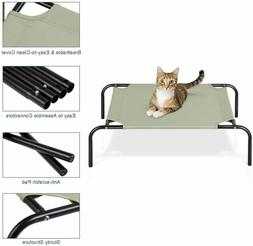 Elevated Dog Bed Raised Cat Cot Portable Durable Pet Cooling