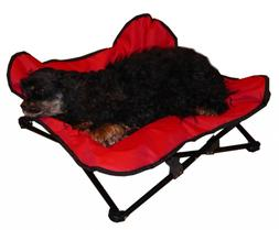 HDP Elevated Padded Napper Cot Space Saver Pet Bed Color:Red
