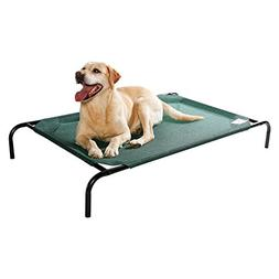 Coolaroo Elevated Pet Bed - Green