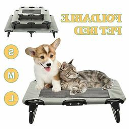 Elevated Pet Bed Dog Cat Cot Portable Raised Cooling Camping