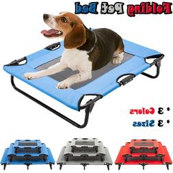 Elevated Pet Bed Dog Cat Cot Portable Raised Camping Pet Coz