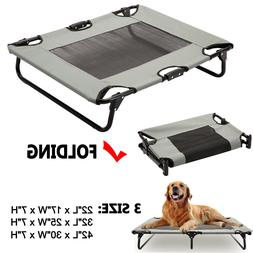 Elevated Pet Cot Dog Bed Raised Camping Sleeper Cooling Mesh