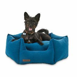"Reddy Elite Blue Orthopedic Hexagon Dog Bed, 24"" L X 24"" W"