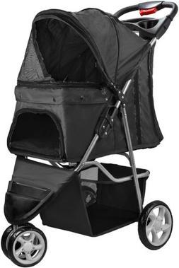 OxGord Elite Jogger Pet Stroller 3-Wheel Easy Walk Folding T