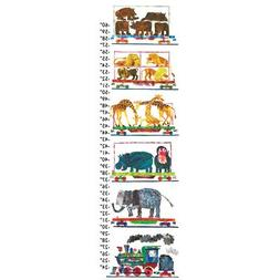 Eric Carle Animals and Steam Train Canvas Growth Chart
