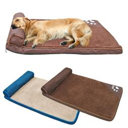 Extra Large Dog Bed Clearance Waterproof Thick Soft Warm Fle