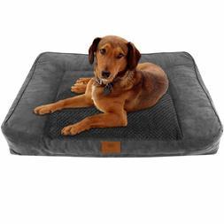 Extra Large Dog Bed Ultra Plush w/ Memory Foam Orthopedic Du
