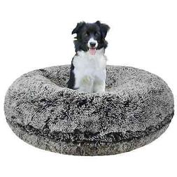 Bessie & Barnie Extra Plush Faux Fur Bagel Pet Midnight Fros