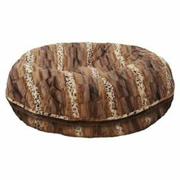 Bessie and Barnie Extra Plush Faux Fur Textured Stripe Bagel