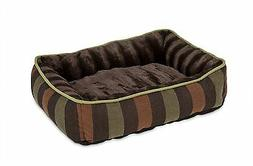 Petmate FASHION RECTANGULAR LOUNGER Pet Dog Bed High Loft Da
