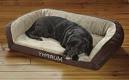 Orvis Faux-fur Deep Dish Dog Bed With Memory Foam / X-large