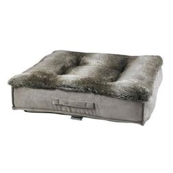 Bowsers Faux Fur CHINCHILLA Tufted Square Piazza Nesting Dog