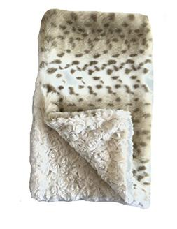 GoodDogBeds Faux Fur Square Dog Blanket, 36 by 36-Inch, Lynx
