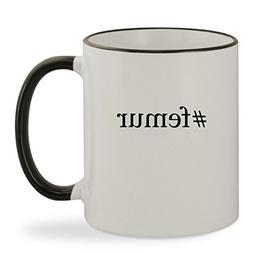 #femur - 11oz Hashtag Colored Rim & Handle Sturdy Ceramic Co