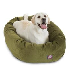40 inch Fern Villa Collection Micro Velvet Bagel Dog Bed By