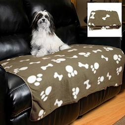 Evelots Large Fleece Pet Blanket 44 X 38 Inches, Durable For