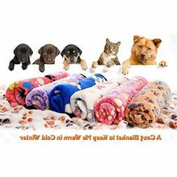 Fleece Soft Warm Pet Blanket Puppy Dog Cat Mat for Car Couch