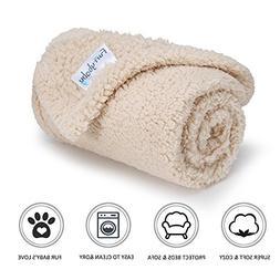 furrybaby Premium Fluffy Fleece Dog Blanket, Soft and Warm P