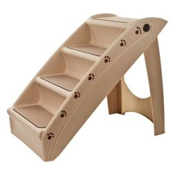 Folding Plastic Pet Stairs Durable Indoor or Outdoor 4 Step