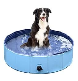 Jasonwell Foldable Dog Pet Bath Pool Collapsible Dog Pet Poo