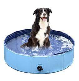 Jasonwell Foldable Dog Pet Bath Pool Collapsible Dog Pet Poo