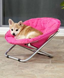 Foldable Indoor Outdoor Pet Bed Lounge Chair Dog or Cat Pink