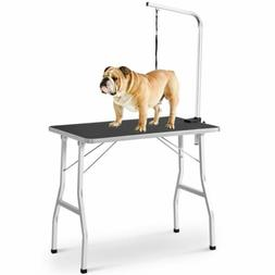 Foldable Pet Grooming Bath Table Portable Dog Cat Bed Noose
