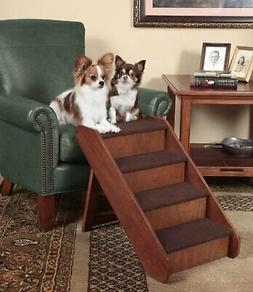 Foldable Wooden Pet Ladder Dog Cat Puppy Stairs Portable Ste