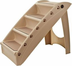 Folding Plastic Pet Dog Cat Stairs Durable Indoor Outdoor 4