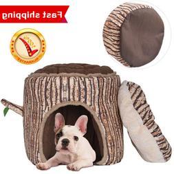 Folding Soft Dog Cat Bed Pet Kennel Houses Indoor & Outdoor