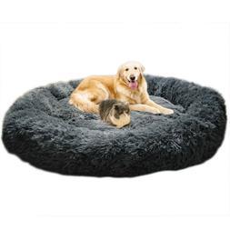 Fur Donut Cuddler Ultra Soft Orthopedic Dog and Cat Cushion