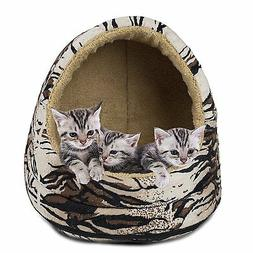 Furhaven HOOD DOME PET BED Cat Small Dog Removable Cover 41c