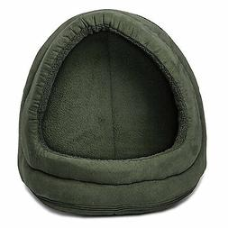 Furhaven HOOD DOME PET SUEDE BED Cat Small Dog Removable Cov