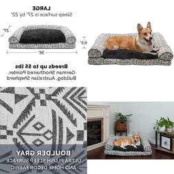 Furhaven Pet - Sofa-Style Dog Pillow Bed  Traditional Orthop