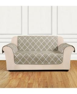 Sure Fit Furniture Flair Quilted Loveseat Slipcover Bedding