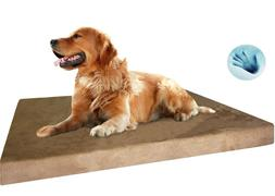 Gel Infused Waterproof Memory Foam Pad Pet Bed for Medium to