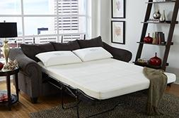 "Nature's Sleep 4.5"" Gel Memory Foam Sofa Sleeper Mattress,"