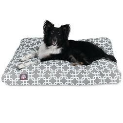 Gray Links Medium Rectangle Indoor Outdoor Pet Dog Bed With