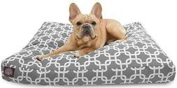 Majestic Pet Gray Links Small Rectangle Pet Dog Bed With Was