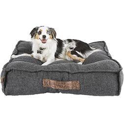 "Harmony Grey Lounger Memory Foam Dog Bed, 28"" L x 28"" W"