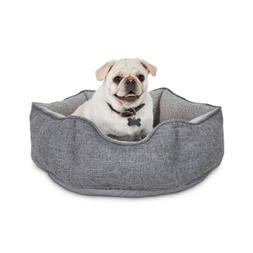 "Harmony Cozy Cottage Gray Hexagon Nester Dog Bed, 22"" L X 22"